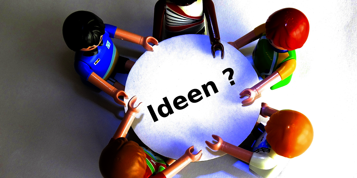 marketing, tisch, ideen, teamwork, playmobil