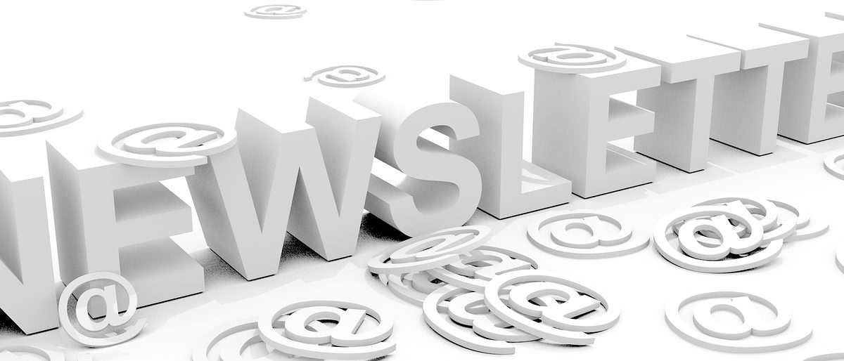 The word newsletter surrounded by alias @ signs Schlagwort(e): newsletter, news, letter, new, message, @, mail, e-mail, email, communication, information, offer, sale, journalism, commercial, business, advertisement, commercial